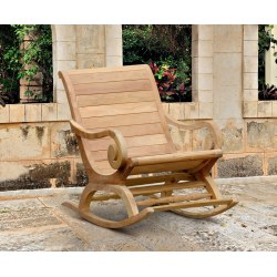 Capri Reclaimed Teak Plantation Rocking Chair