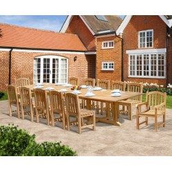 Hilgrove 12 Seater Rectangular 4m Table, Side Chairs & Armchairs