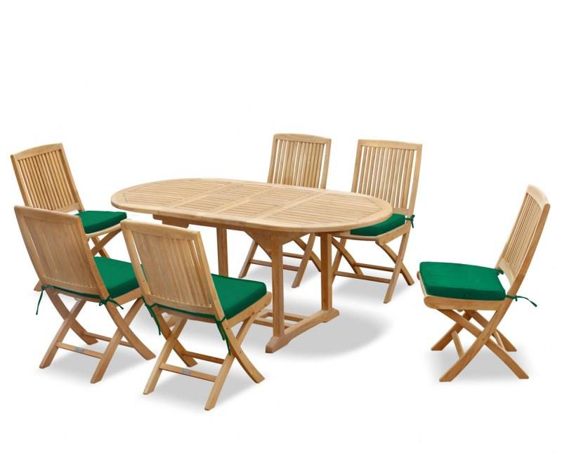 Brompton Bijou Extending Table 1.2 - 1.8m & 6 Rimini Folding Side Chairs