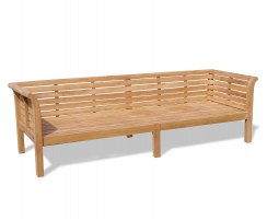 Extra Large Teak Garden Daybed – 2.7m / 9ft