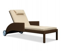 Sorrento Wicker Sun Lounger, Rattan Sun Bed