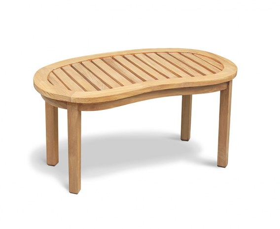 Contemporary Reclaimed Teak Coffee Table - Rustic Finish