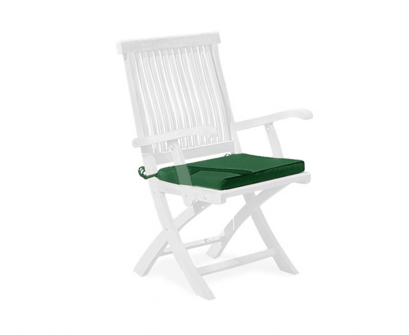 Folding Garden Chair Cushion, Tie-on Cushion Pad