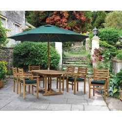 Brompton Bijou Extending 1.2 - 1.8m Table & 6 Yale Stacking Chairs Set