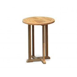 Canfield Outdoor Wooden Poseur Table, Round – 0.7m