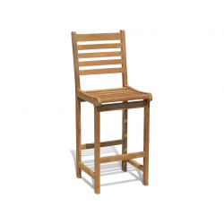 Yale Garden Bar Stool, Teak Wooden Bar Chair