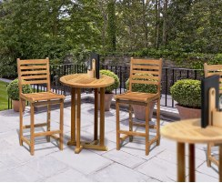 Canfield Yale Teak Garden Bar Set