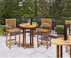 Canfield Yale Teak Garden Bar Set