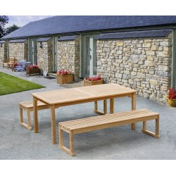 Sandringham Teak Table and Benches Set 1.8m