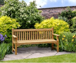 Taverners Teak Traditional 6ft Garden Bench – 1.8m
