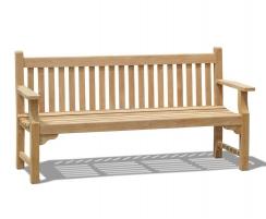 Taverners Teak Traditional 6ft Garden Bench – 1.8m
