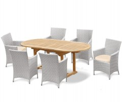 Brompton Bijou Double Leaf Extendable Table and Riviera Armchairs Set