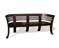 Kensington Teak Indoor 3 Seater Tub Bench, Antique Finish – 1.8m