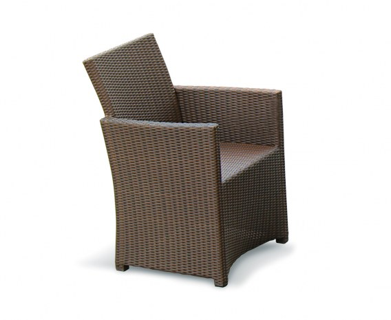 Eclipse Rattan Patio Chair, flat weave