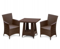 Riviera Rattan Table and Chairs, 2 Seater Dining Set