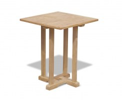 Canfield Teak Square Garden Table - 0.6m