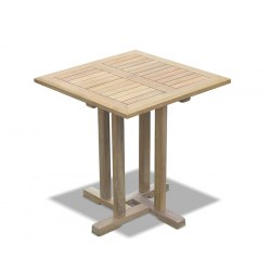 Canfield Teak Square Garden Table - 0.7m