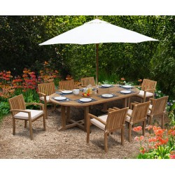 8 Seater Garden Dining Set, Teak