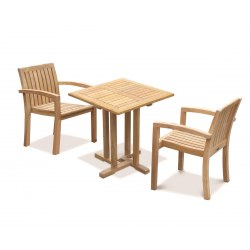 Square Table 2 Seater Set