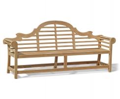 Lutyens-Style 2.25m Bench, Chairs & Coffee Table, Garden Patio Set