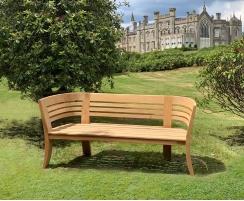 Kensington Teak 3 Seater Deco Garden Bench