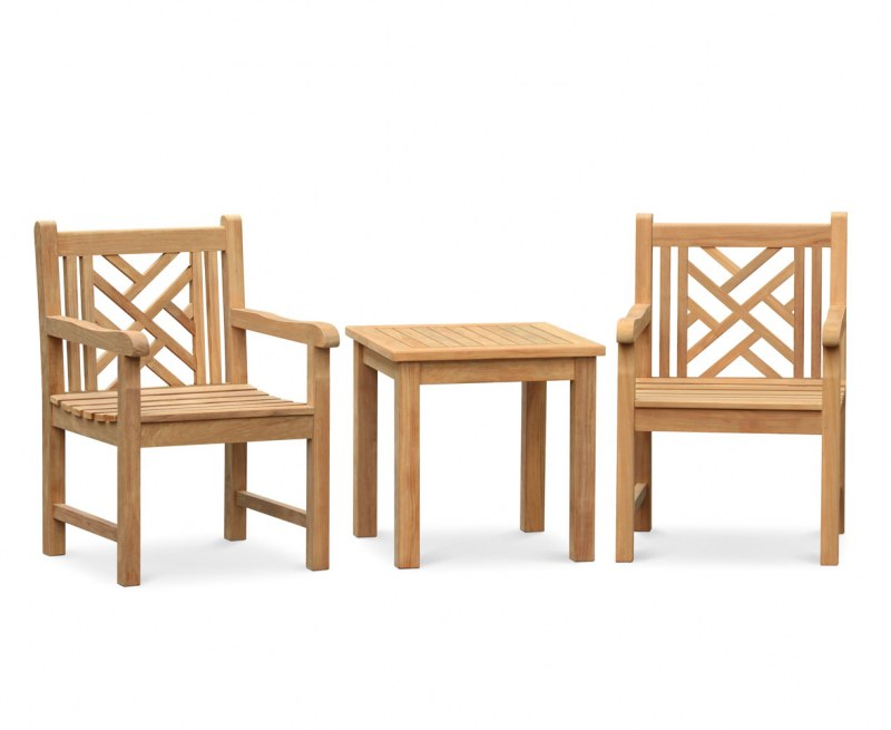 Princeton Teak Garden Conversation Set