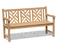 Princeton Chippendale Decorative Garden Bench – 1.5m