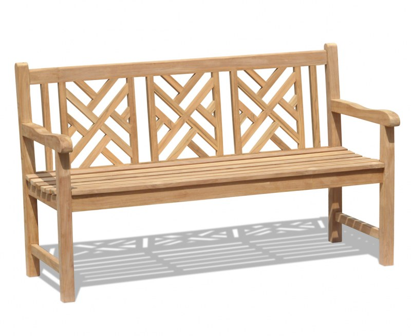 Princeton Chippendale Decorative Garden Bench – 1.5m