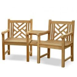 Princeton Teak Companion Seat
