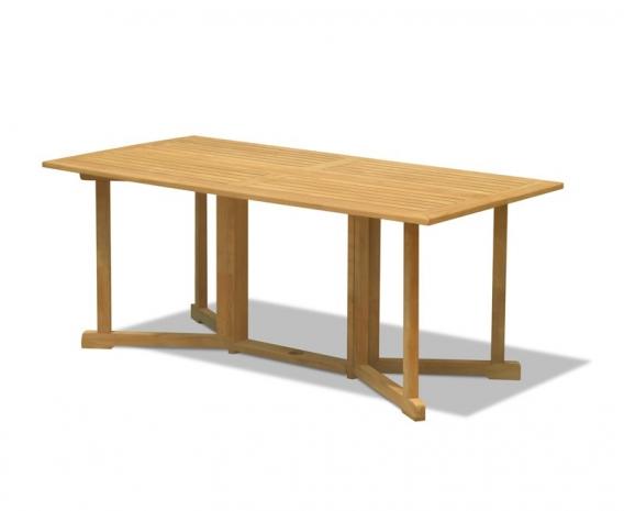 Shelley 6ft Teak Gateleg Drop Leaf Table – 1.8m