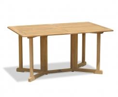 Shelley Gateleg Rectangular Garden Table and Armchairs Set