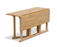 Shelley 5ft Teak Gateleg Drop Leaf Table – 1.5m