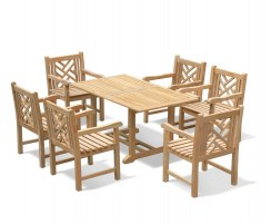 Hilgrove 6 Seater Garden Dining Set with Princeton Armchairs