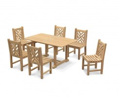 Hilgrove 6 Seater Garden Dining Set with Princeton Chairs