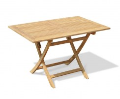 Rimini Folding Garden Table, Rectangular, Teak – 1.2m