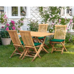 Rimini Rectangular 1.2m Table & 4 Ashdown Folding Side Chairs