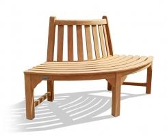 Teak 1/4 Quarter Tree Seat