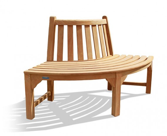 Teak Garden Tree Seat Quarter
