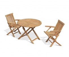 2 Seater Teak Foldable Outdoor Dining Set