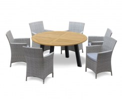 Disk 6 Seater Garden Dining Set