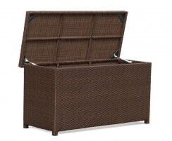 Rattan Garden Storage Box with Lid