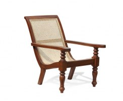 Plantation Chair with swing out arms, Teak and Rattan