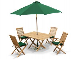 Rimini Rectangular Garden Folding Table Set