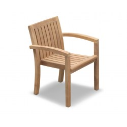Monaco Teak Wooden Stacking Chair