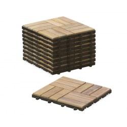 Clip-together Deck Tiles - Mosaic Square Basket Pattern