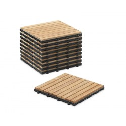 Click-together decking tiles - classic parquet pattern