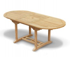 Bijou Sized Teak Extending Garden Table