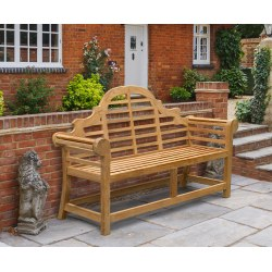 Lutyens-Style Bench, Teak – 1.65m