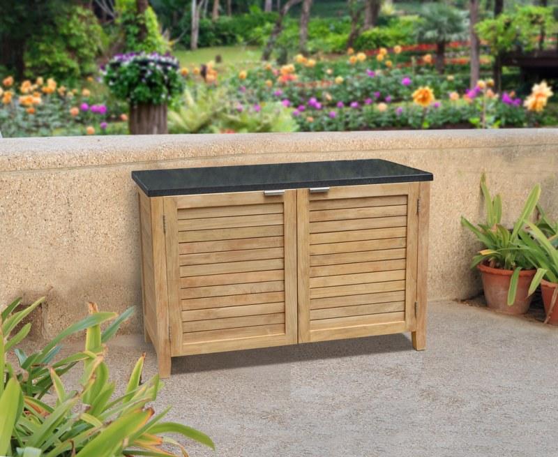 Aria Teak and Granite Garden Sideboard