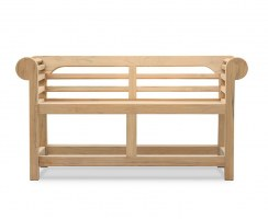 Lutyens-Style Low Back Outdoor Bench